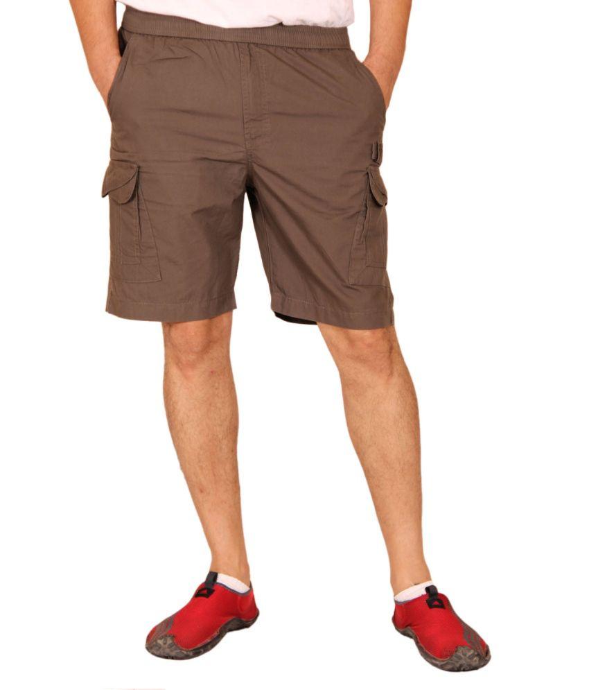 Clickroo Gray Cotton Shorts