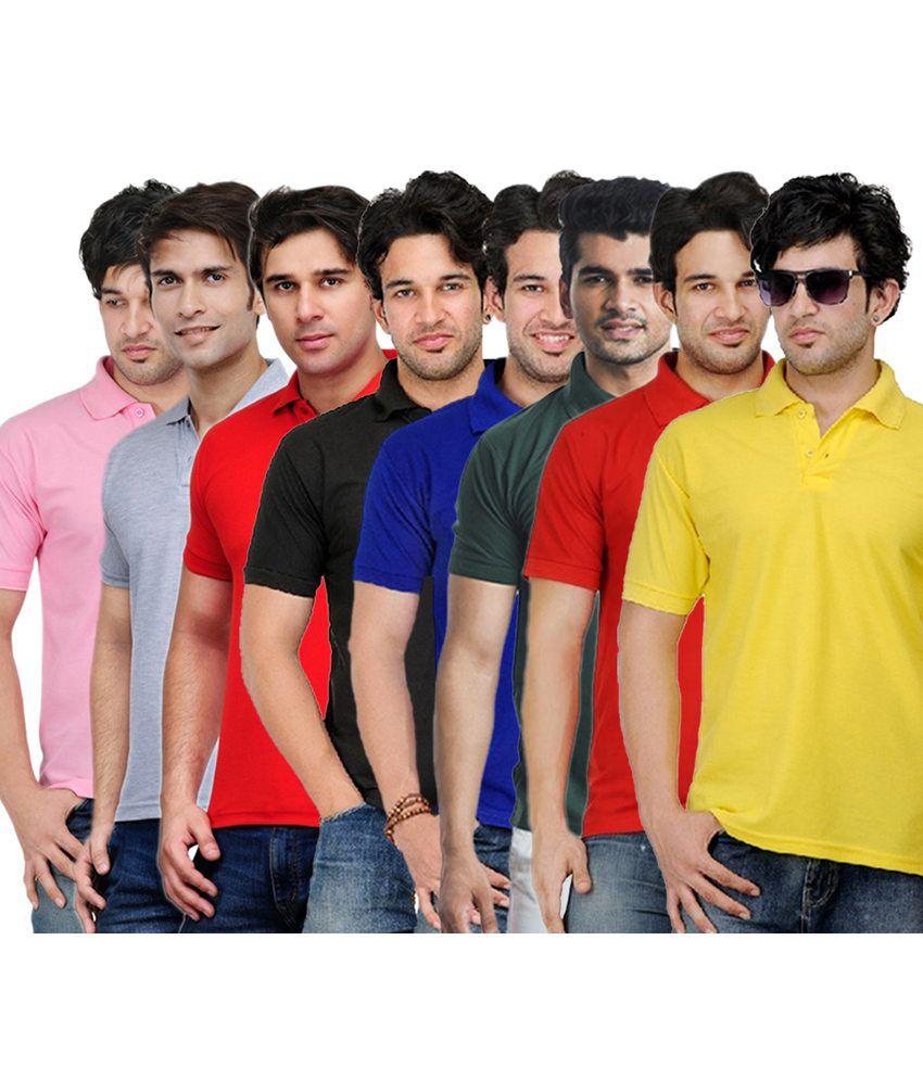 Rakshita's Collection Cotton T- Shirt (SET OF 8)