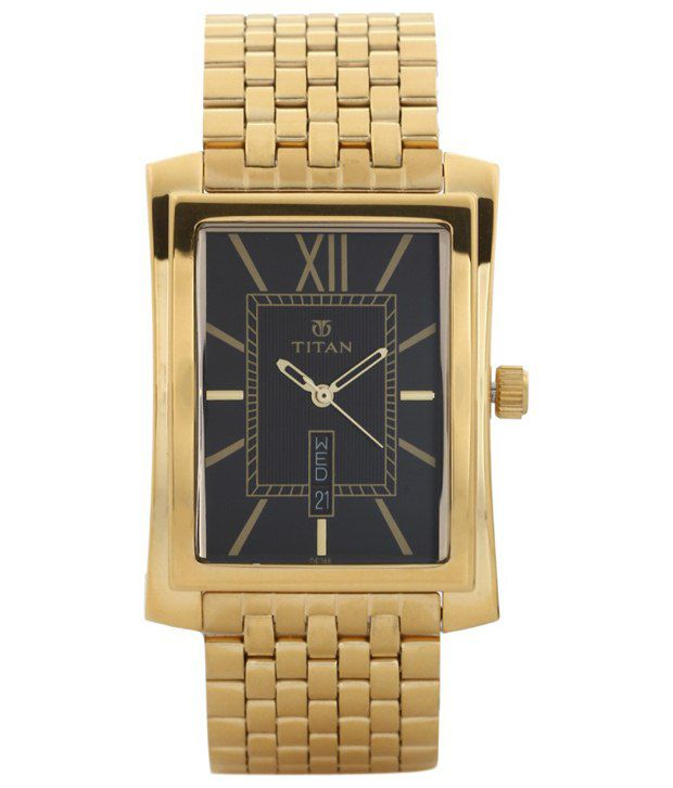 Titan Golden & Black Formal Watch For Men