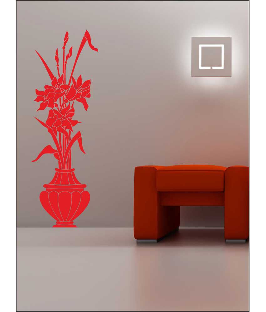 wall1ders classic vase red stickers giant buy