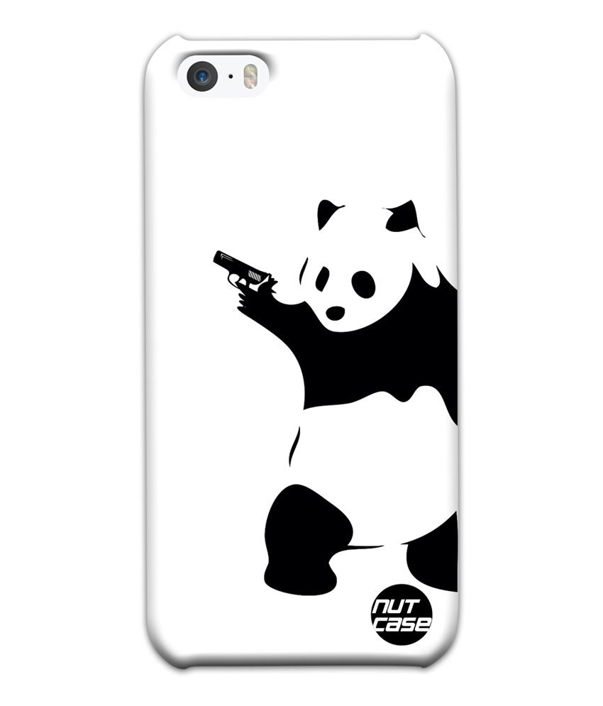 Nutcase Gangster Panda Designer Back Cover For Apple