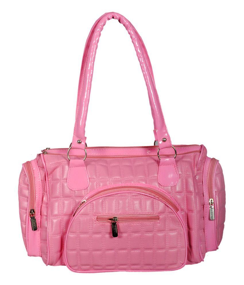 Geetu Pink Non Leather Shoulder Bag