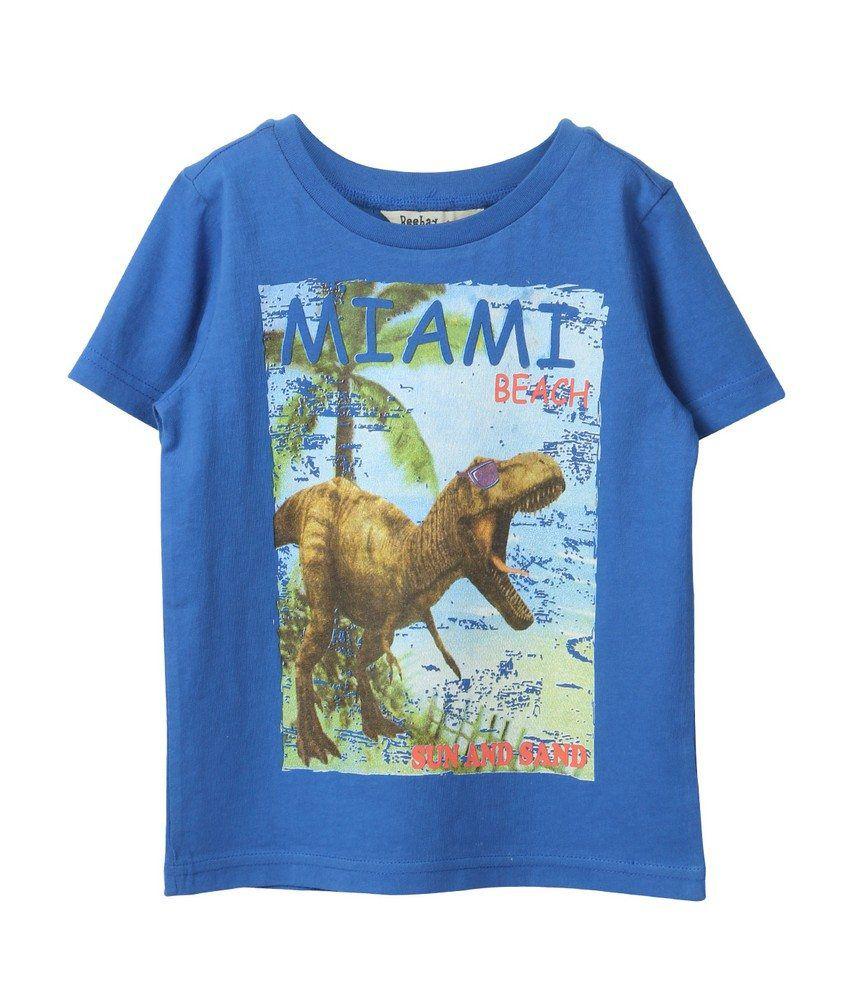 Miami beach print t shirt blue buy miami beach print t for Miami t shirt printing