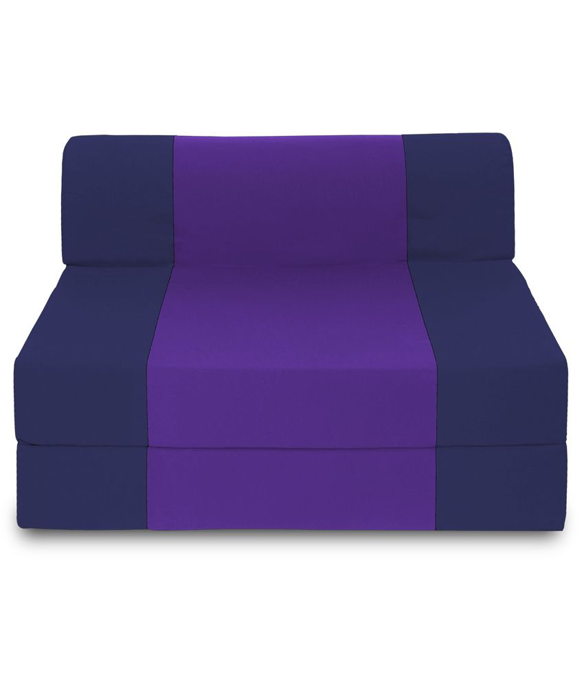 Dolphin zeal single seater sofa bed navy blue purple for Sofa bed 1 seater