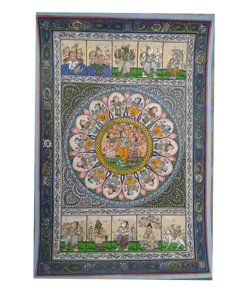 Dashavtar Handmade Patachitra Painting
