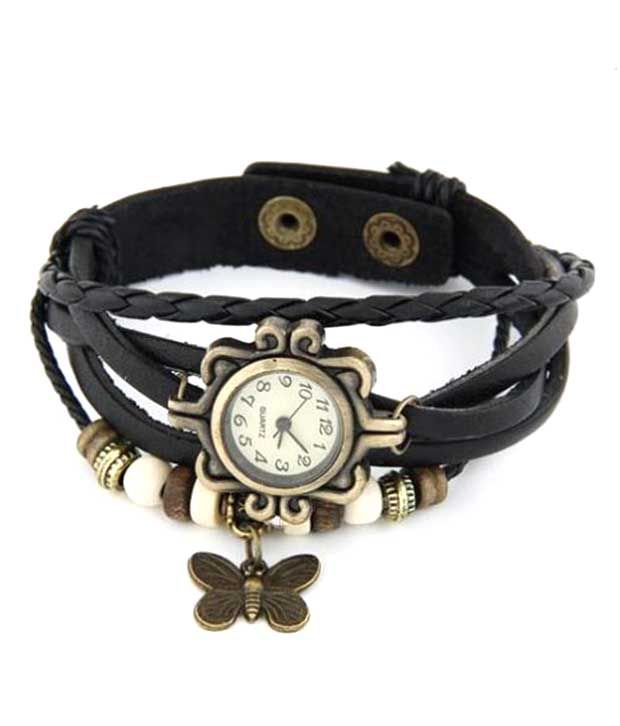 Frozen Apple Frozen Apple Black Round Bracelet Mechanical Designer For Women