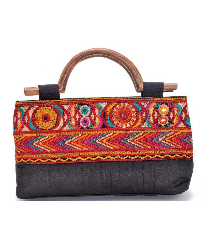 Stylocus Black Zip Satchel Bag