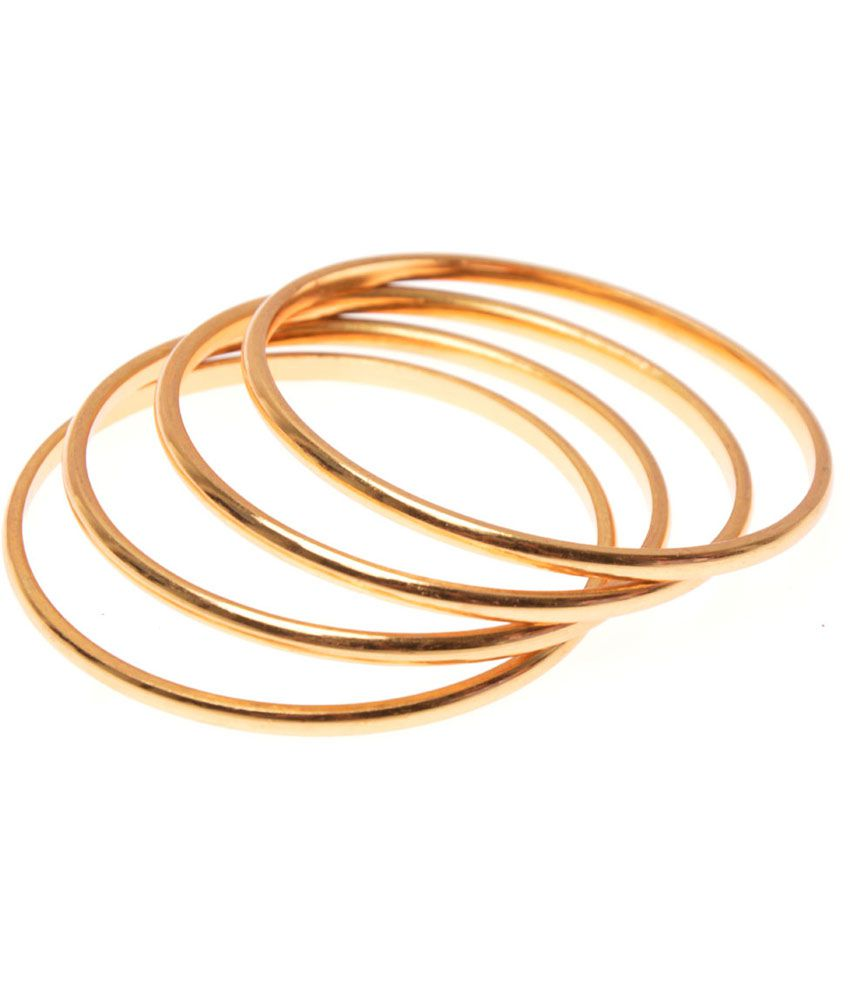 Zakasdeal Plain Gold Plated Bangles: Buy Zakasdeal Plain Gold ...