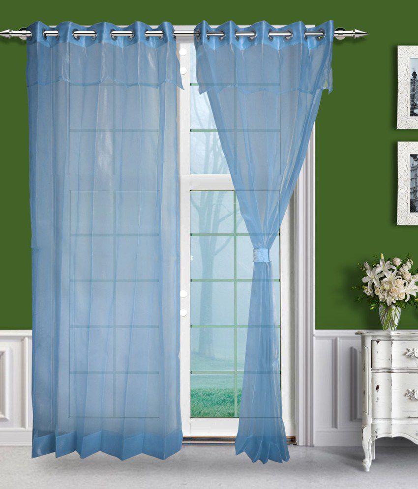 Just Linen Set of 2 Door Eyelet Curtains