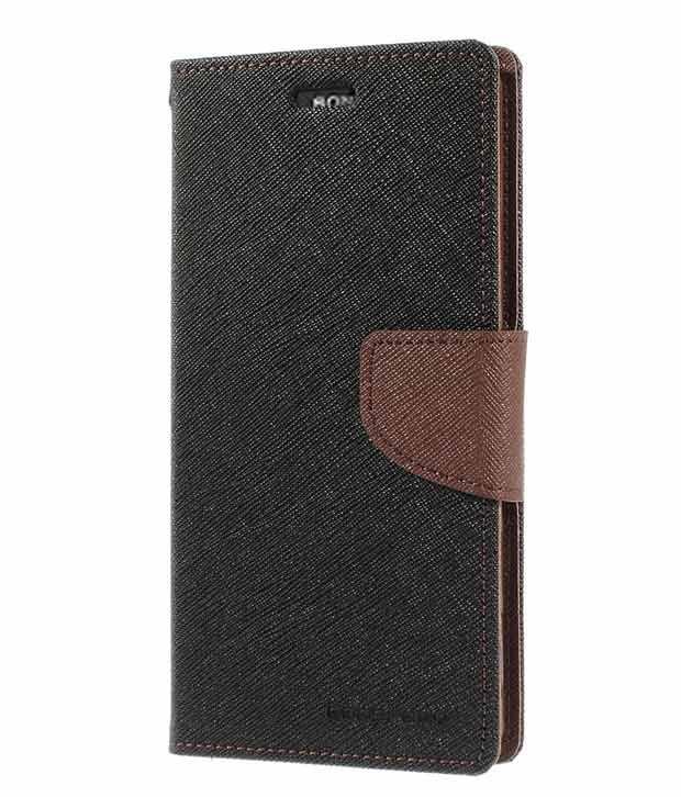 Mercury Wallet Style Flip Cover for HTC Desie 820g - Brown