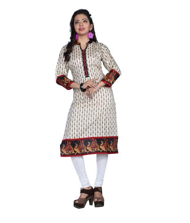 swarrnapankh Multicolour cotton Printed Kurti