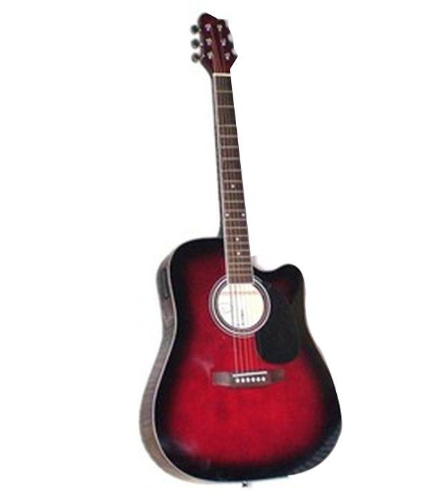 c75e9a4814f Kaps ST1000C 41 Inch Red Burst Semi Acoustic Guitar With Bag - Buy Kaps  ST1000C 41 Inch Red Burst Semi Acoustic Guitar With Bag Online at Best  Prices in ...