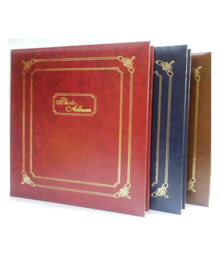 Natraj Vinyl Leather Cover Photo Album - 200 Pocket - 4 x 6 Inch