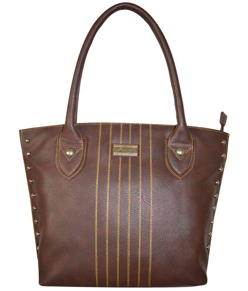 Shree Brown Zip Shoulder Bags
