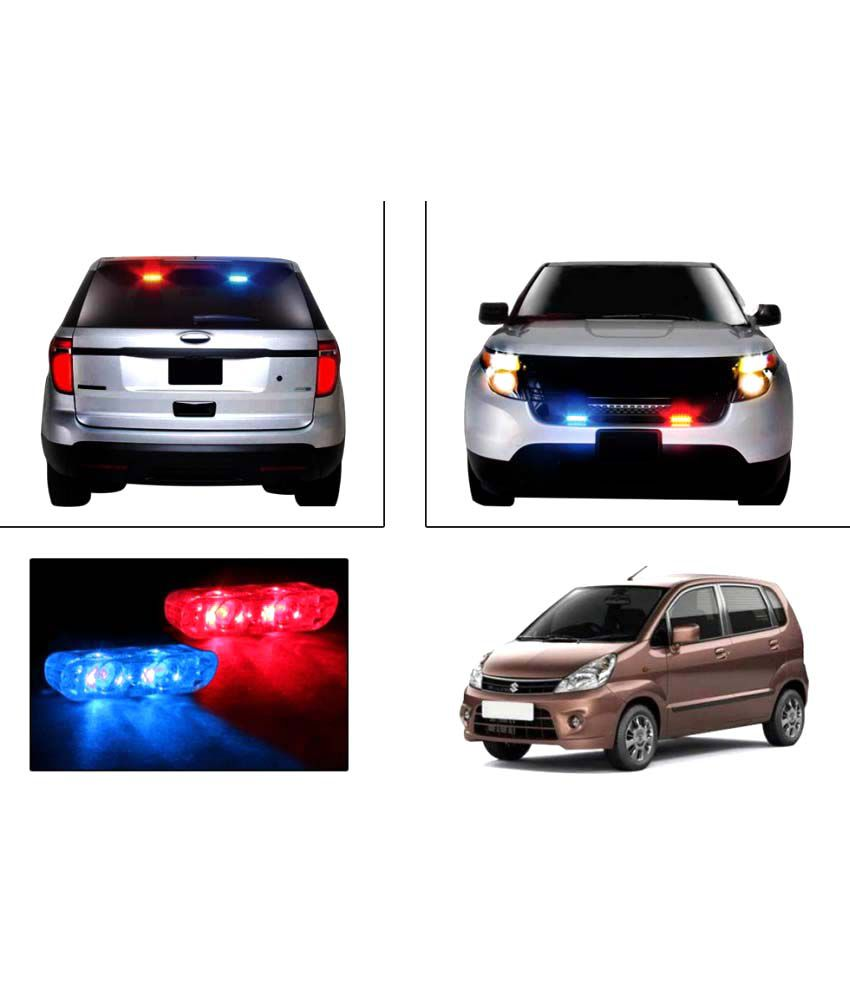 Speedwav Car Sleek Twin Led Police Flasher Lights Maruti Zen Estilo Buy Speedwav Car Sleek Twin