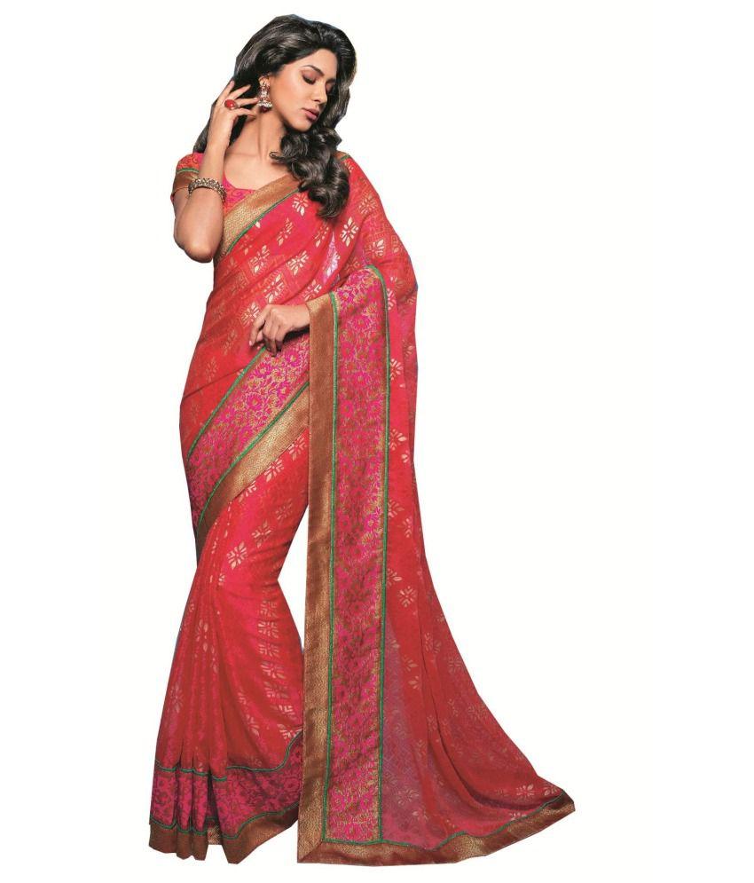 Sudarshan Silks Multicoloured Georgette Saree