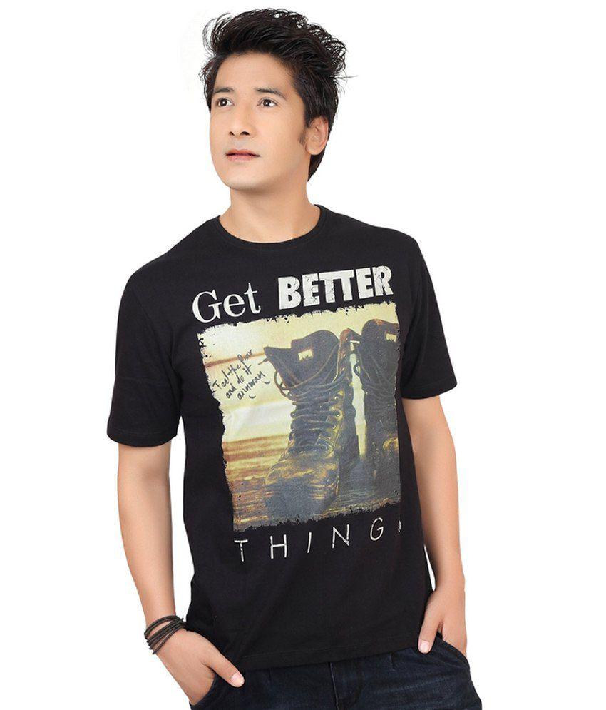 ZootX Black Cotton T-shirt