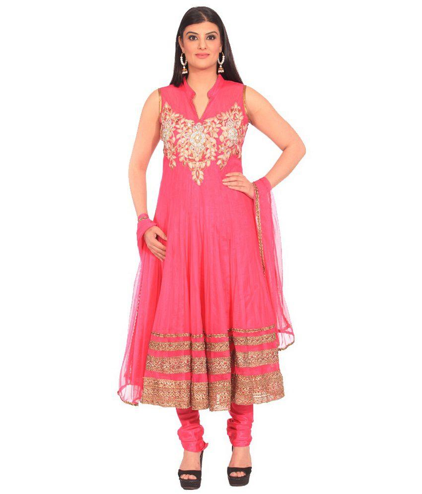 Chandni Chowk Hand Stone Embroidered Net Designer Stitched Anarkali Salwar Suit