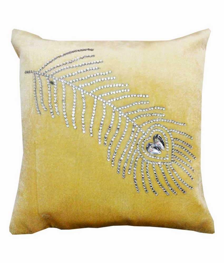 Dream Care Multi-colour Gems Silk Cushion Covers - Set Of 5