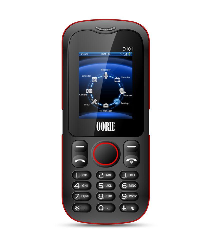Oorie Dura101 Dual Sim Black and Red