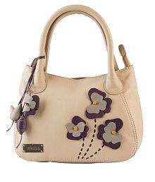 Klasse Beige Pure Leather Shoulder Bag