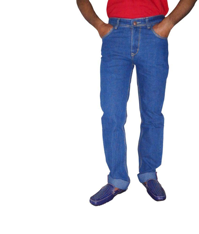 Bluemont Blue Cotton Jeans