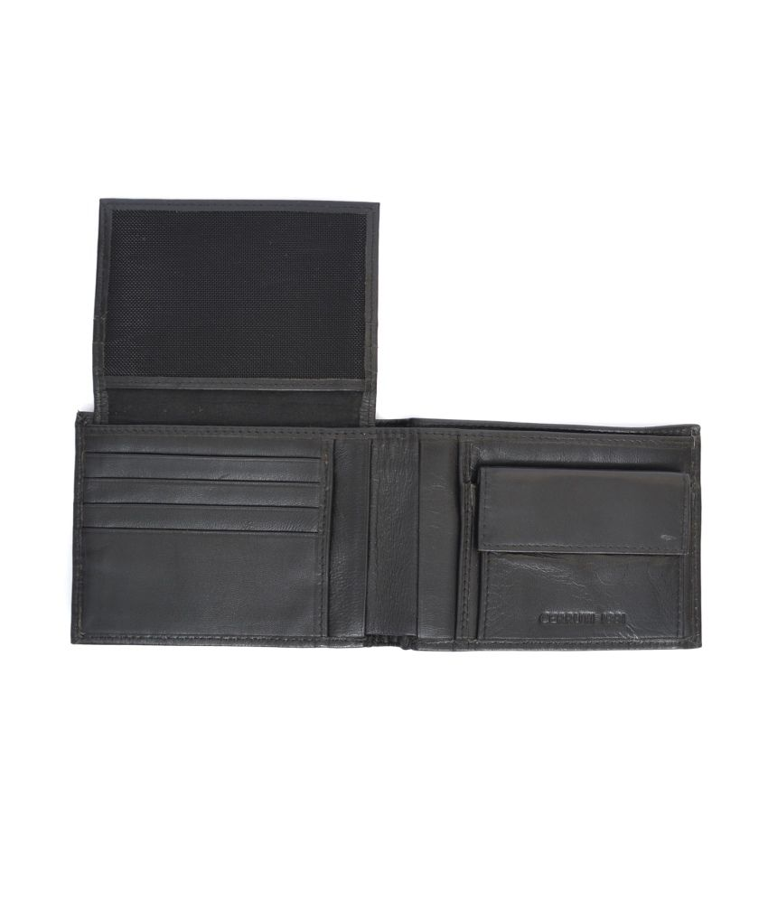 f246d2df4b Cerruti 1881 Black Leather Formal Wallet For Men: Buy Online at Low ...