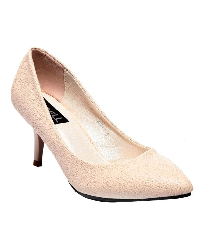 Nell Glorious Beige Heeled Pumps