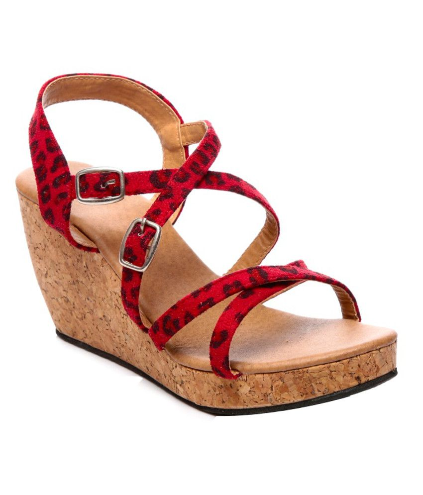 Nell Smart Red Heeled Sandals