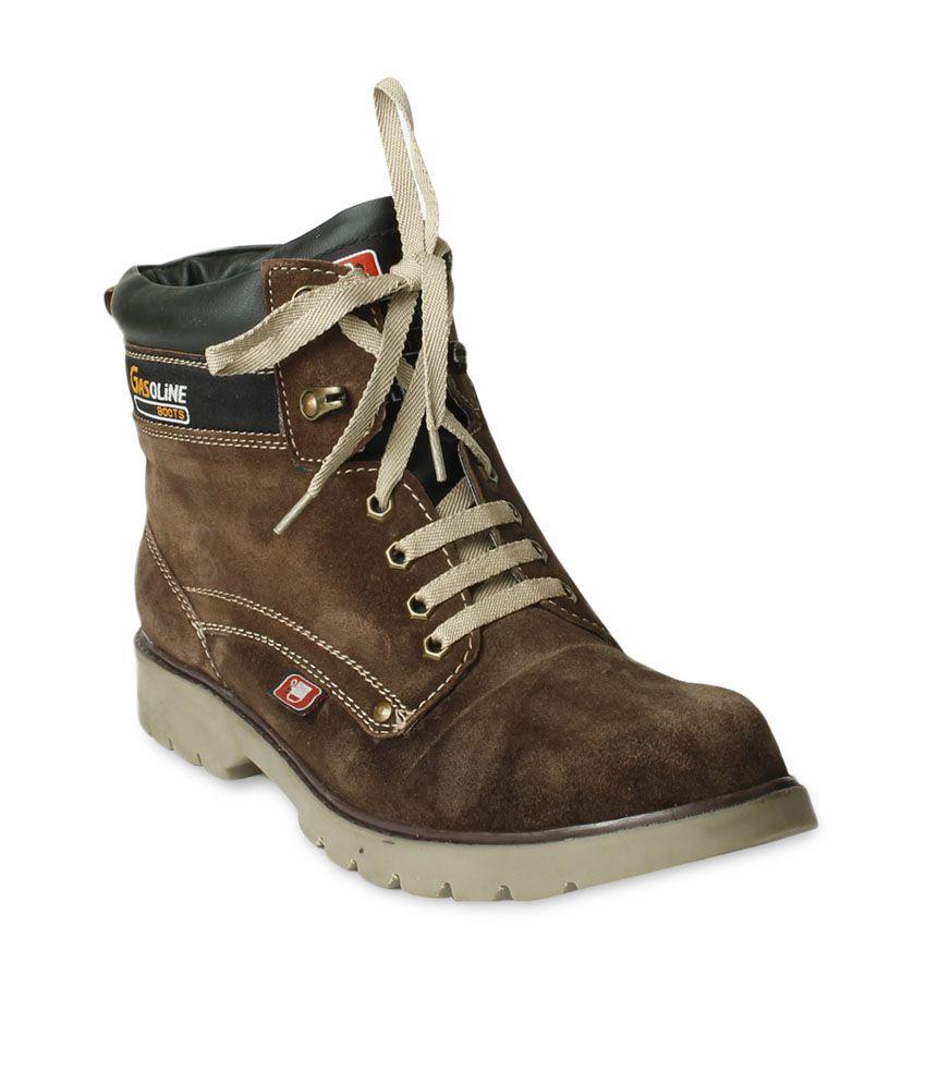 Ten Brown Nubuck Leather Boots