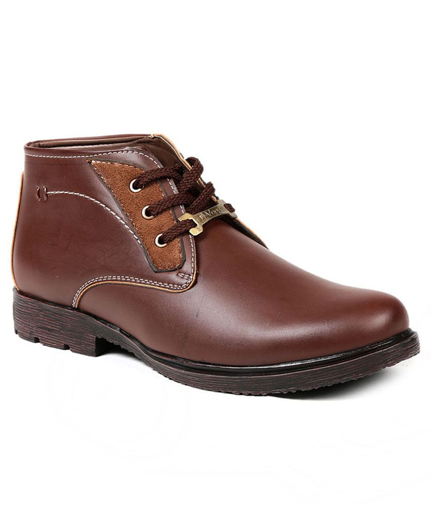 D Vogue London Burgundy Synthetic Leather Daily Wear Boots