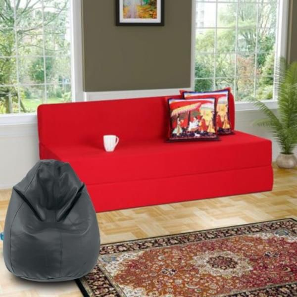 3 seater sofa cum bed 5x6 feet with free bean bag xxl buy 3 rh snapdeal com