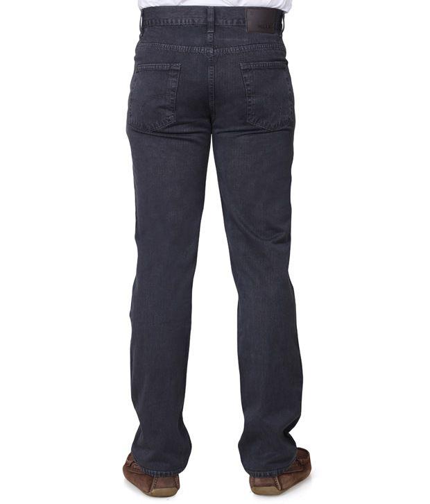 Klix Jeans Gray Cotton Straight Fit Jeans