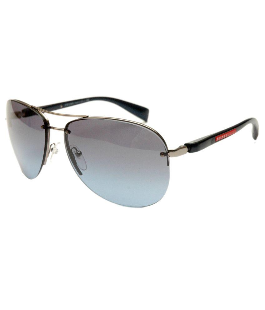 Prada Blue Aviator Sunglasses for Men