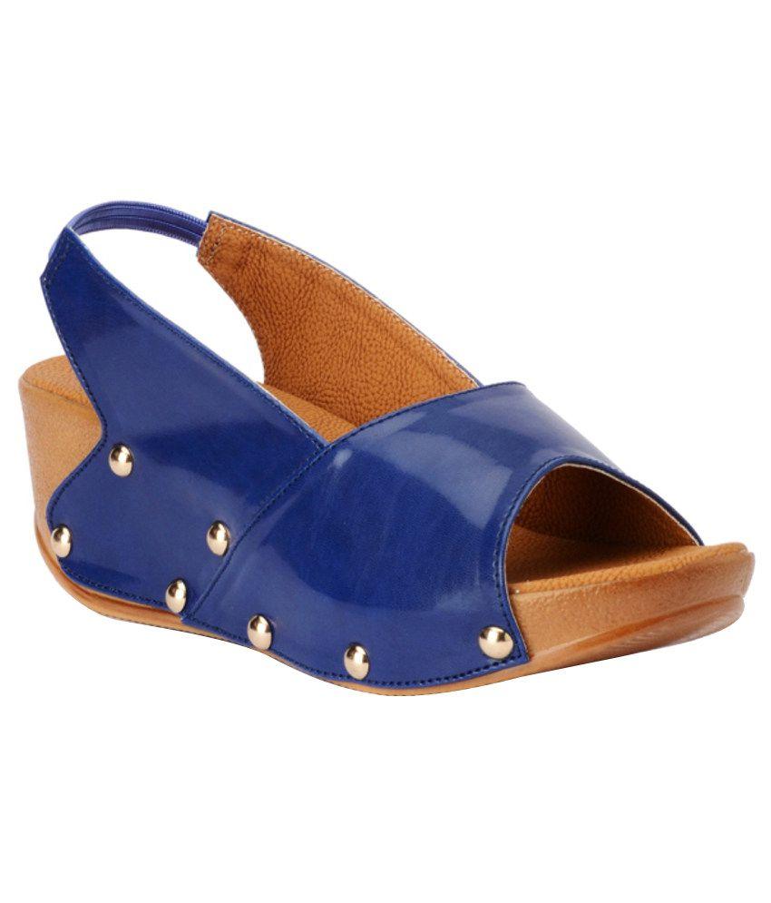 Bruno Maneti Stylish Blue Heeled Sandals