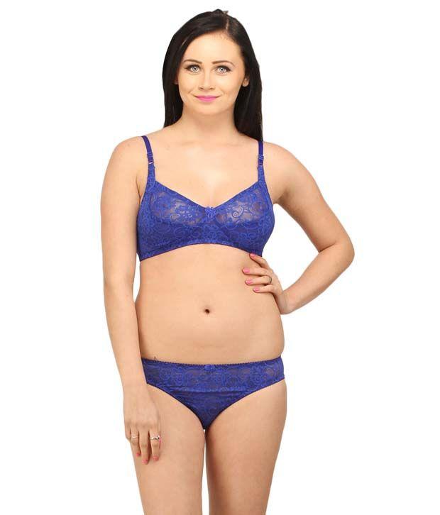 7a585e8cf24 Desiharem Sophia Blue Bra Set Price in India