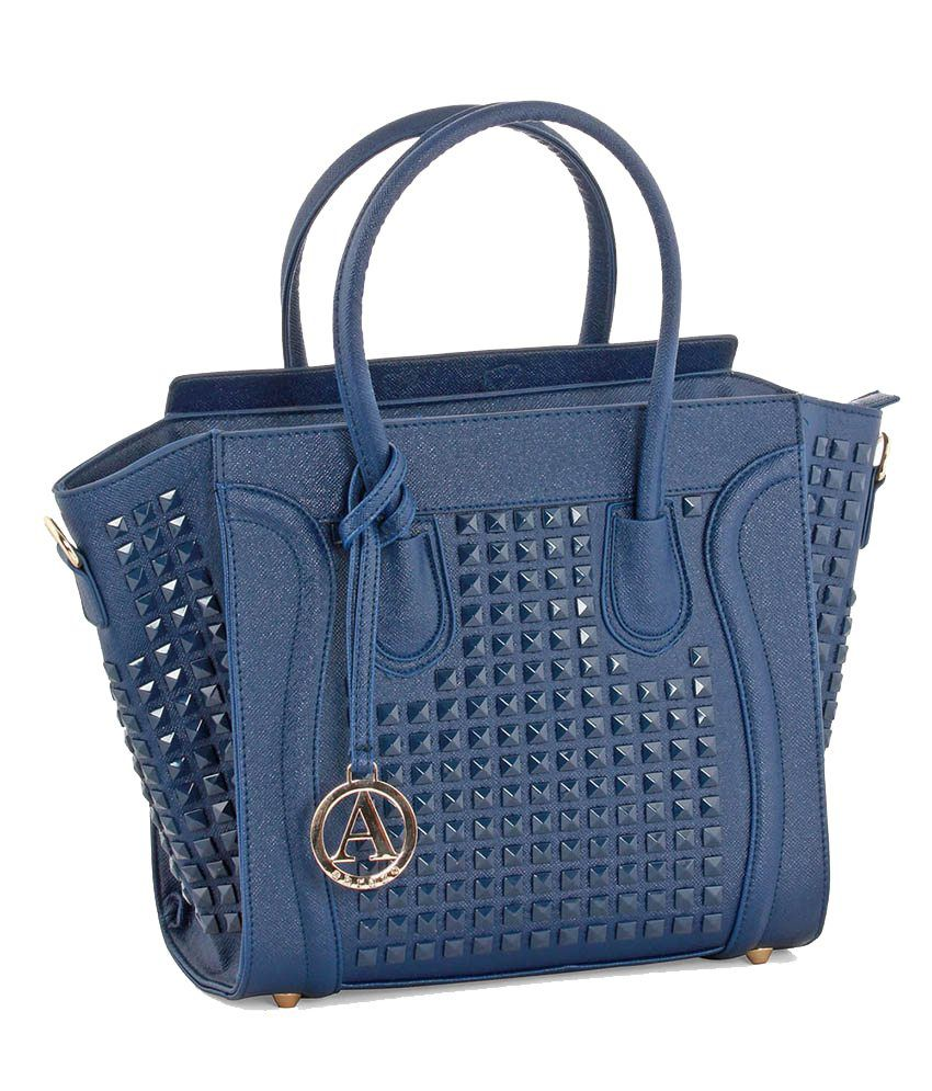 Abrazo Blue Satchel Bags for Women