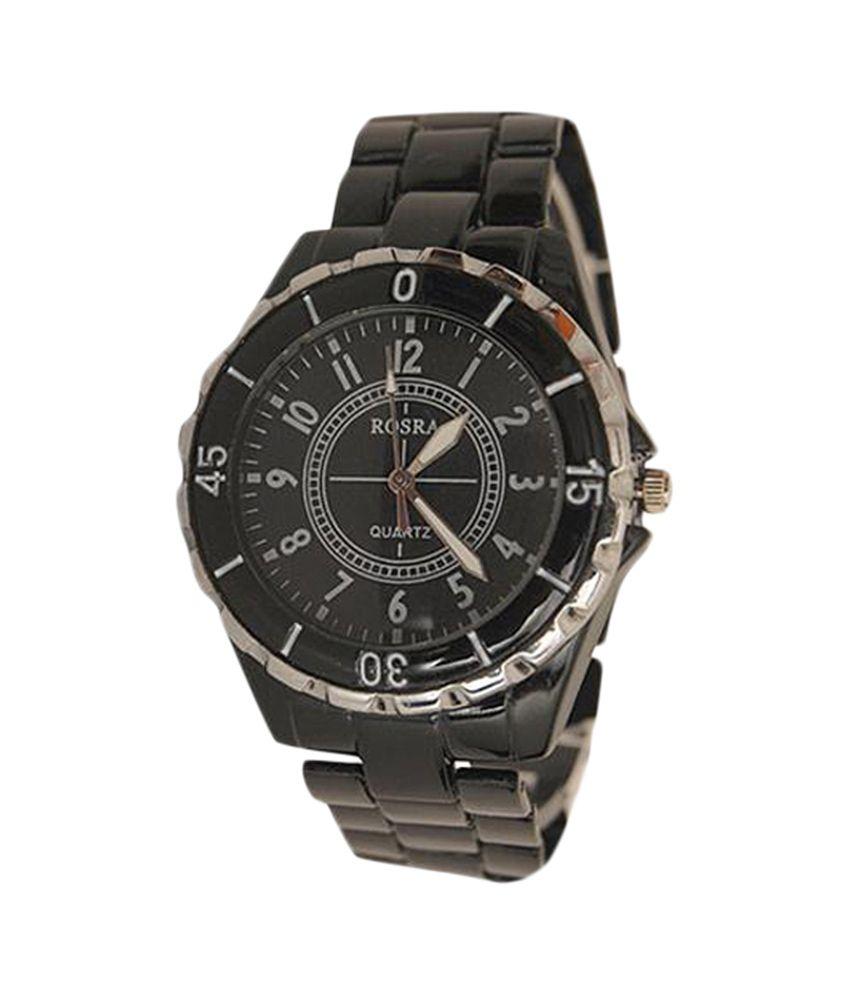 Rosra black analog men 39 s watch buy rosra black analog men 39 s watch online at best prices in for Rosra watches