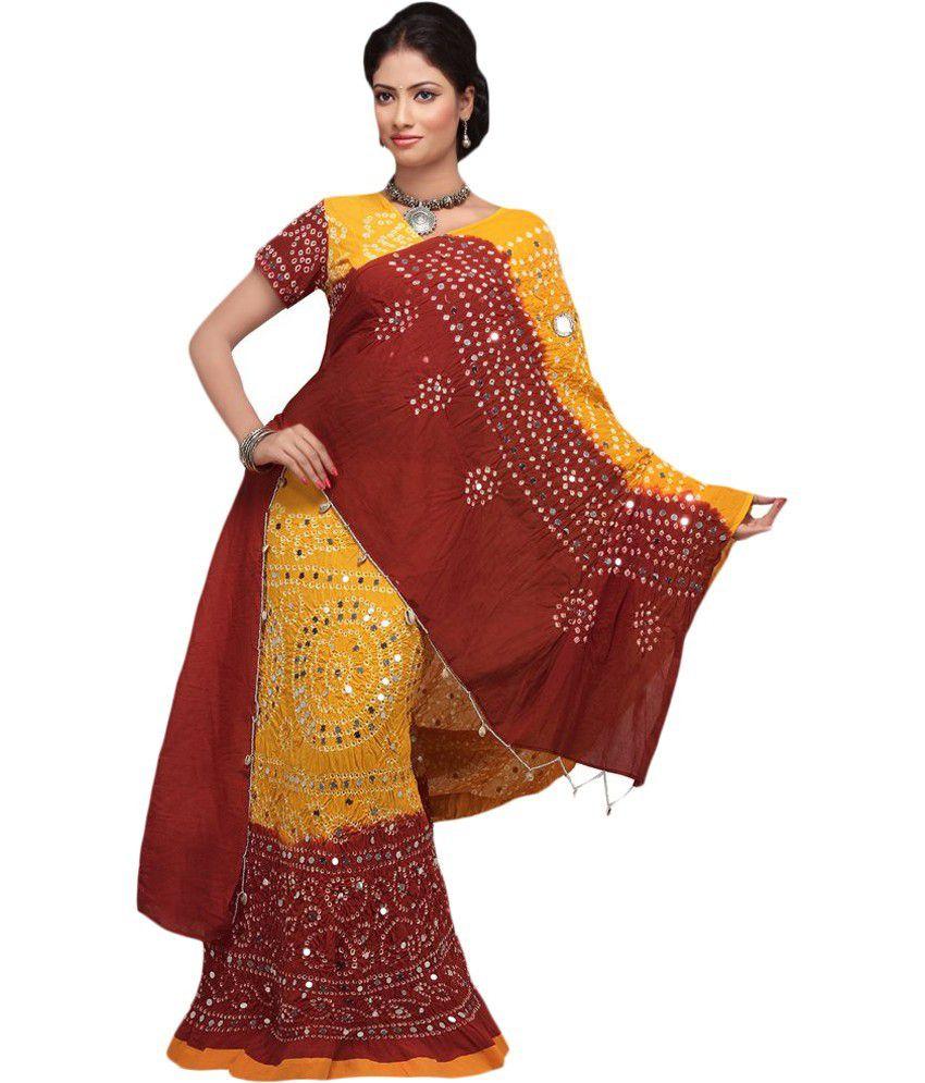 c8829b1a185e16 Shine Eshop Multi Color Bandhej Cotton Stitched Lehenga Choli - Buy Shine  Eshop Multi Color Bandhej Cotton Stitched Lehenga Choli Online at Best  Prices in ...