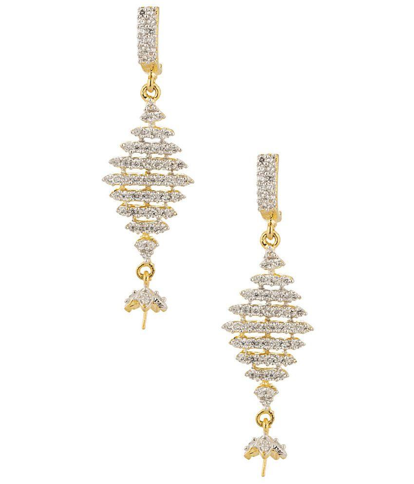Voylla Just Like Diamond Hanging Earrings