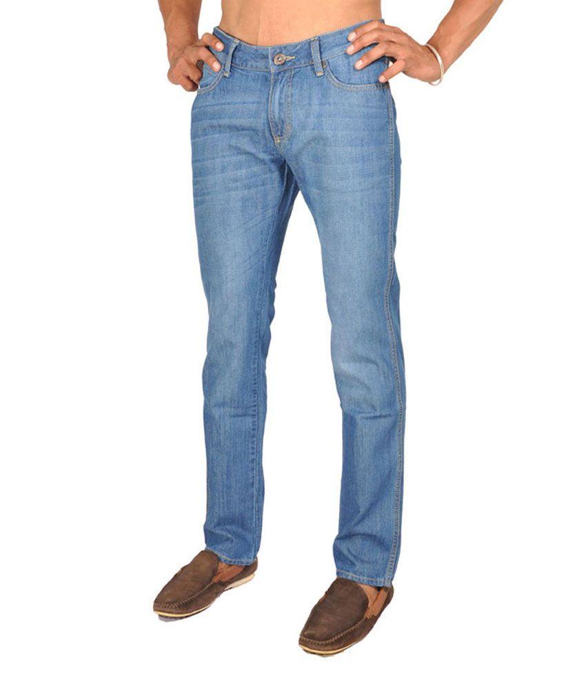 Wrangler Regular Fit Jeans Light Blue Color For Men