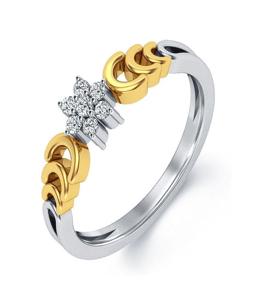 Aamanat ASR008_10 Silver Self certified Swarovski Ring