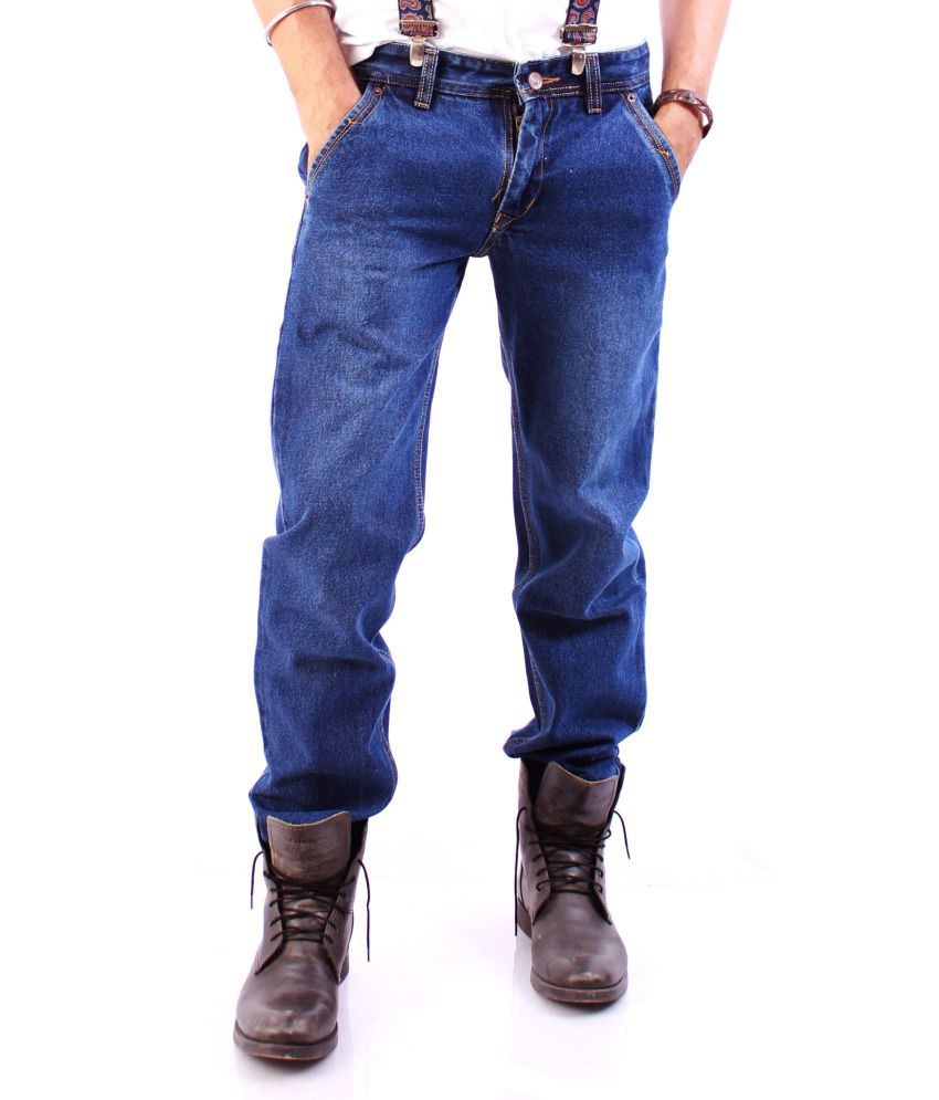 Gp Fashion Blue Straight Jeans For Men