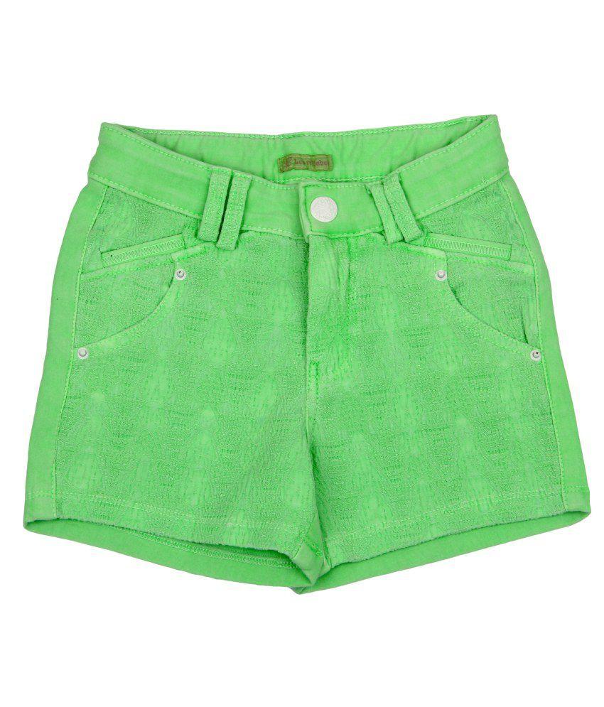 Leo n Babes Green Cotton Short