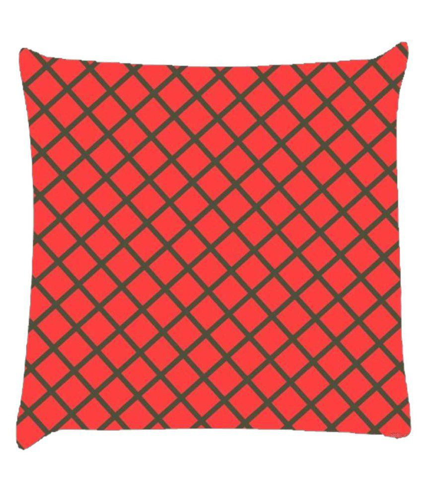 Snoogg Chequered Pattern Design 1501 Cushion Cover