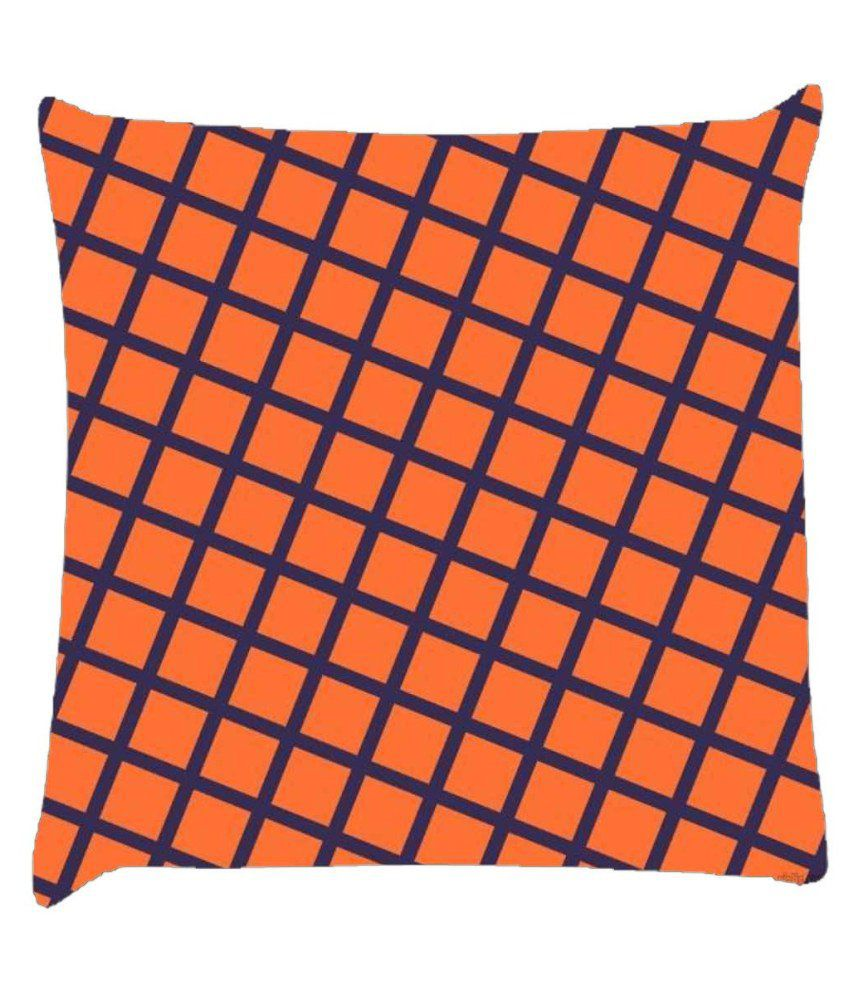 Snoogg Chequered Pattern Design 1680 Cushion Cover