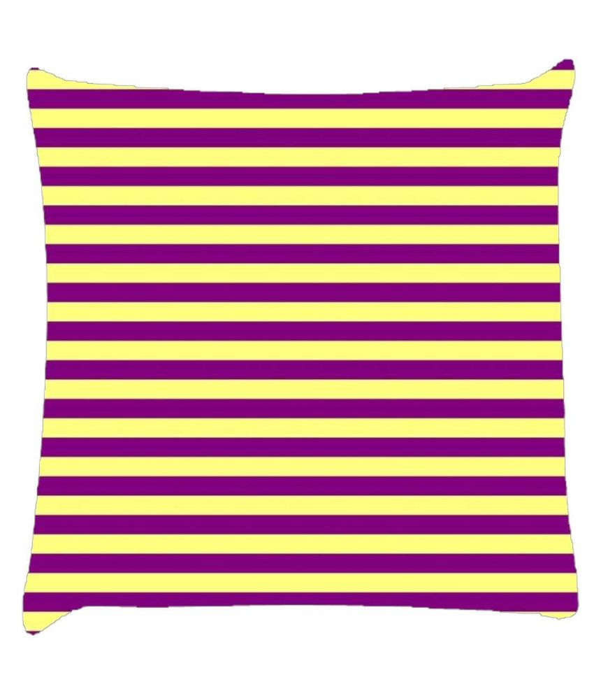 Snoogg Horizontal Lining Pattern Design 1807 Cushion Cover