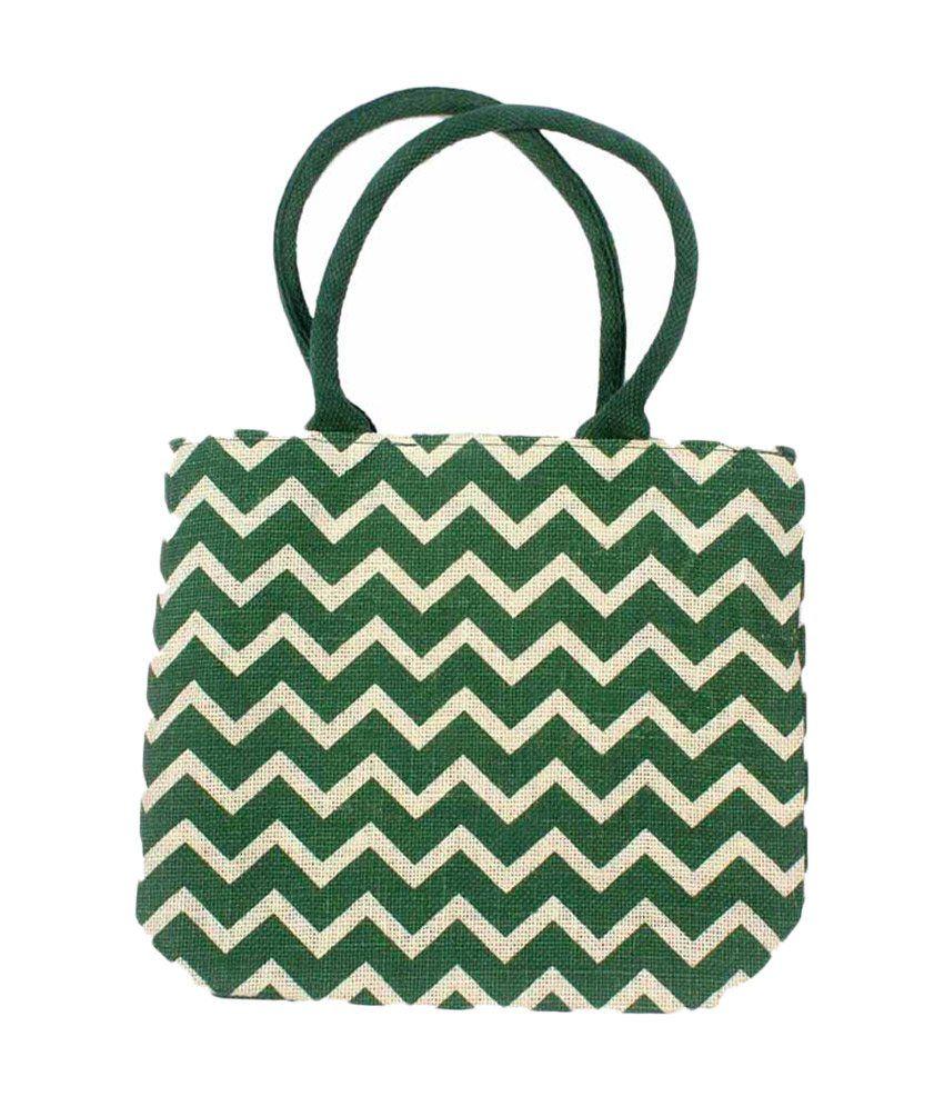 Younique Green Fashion Jute Bag
