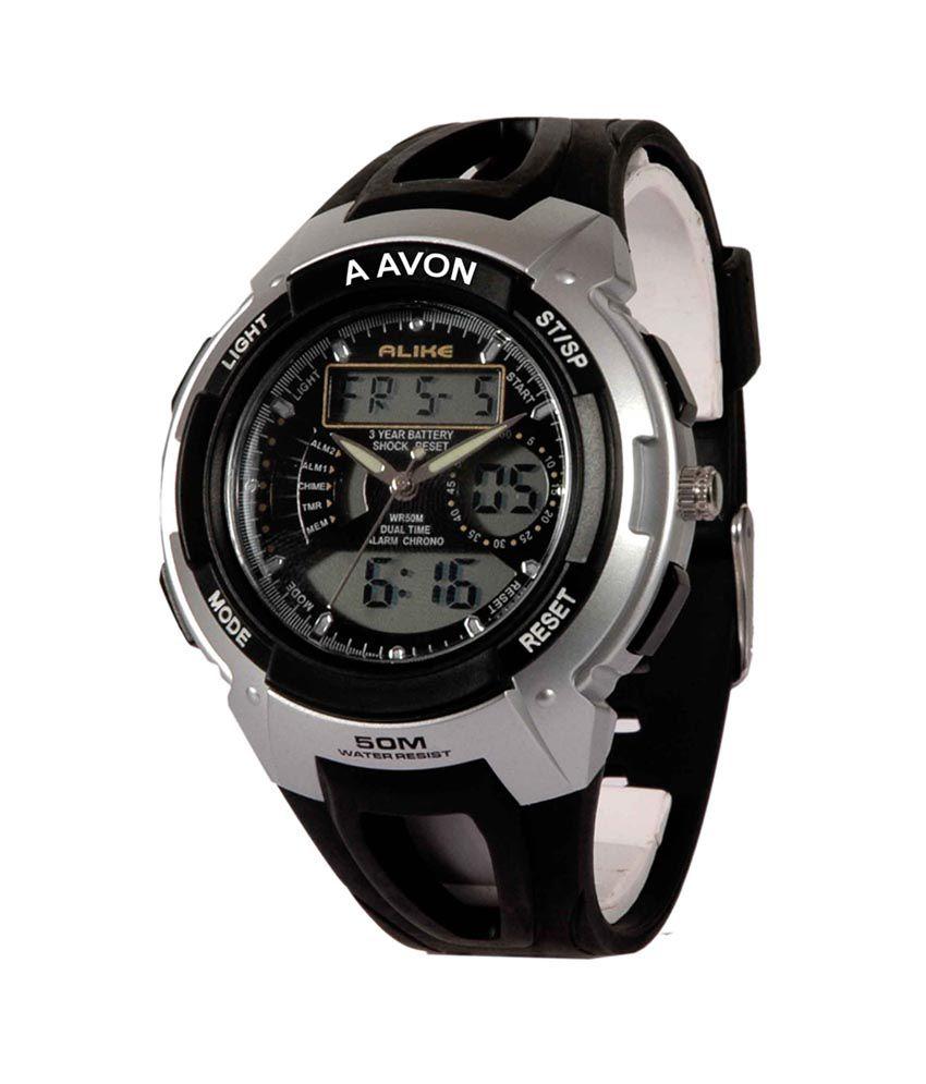 51811d370 A Avon Sports Dual Time Analog-Digital Black Dial Men's Watch - 1001181 - Buy  A Avon Sports Dual Time Analog-Digital Black Dial Men's Watch - 1001181  Online ...
