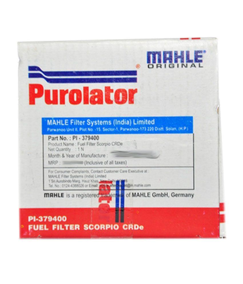 purolator swift diesel/mahindra scorpio crde fuel filter